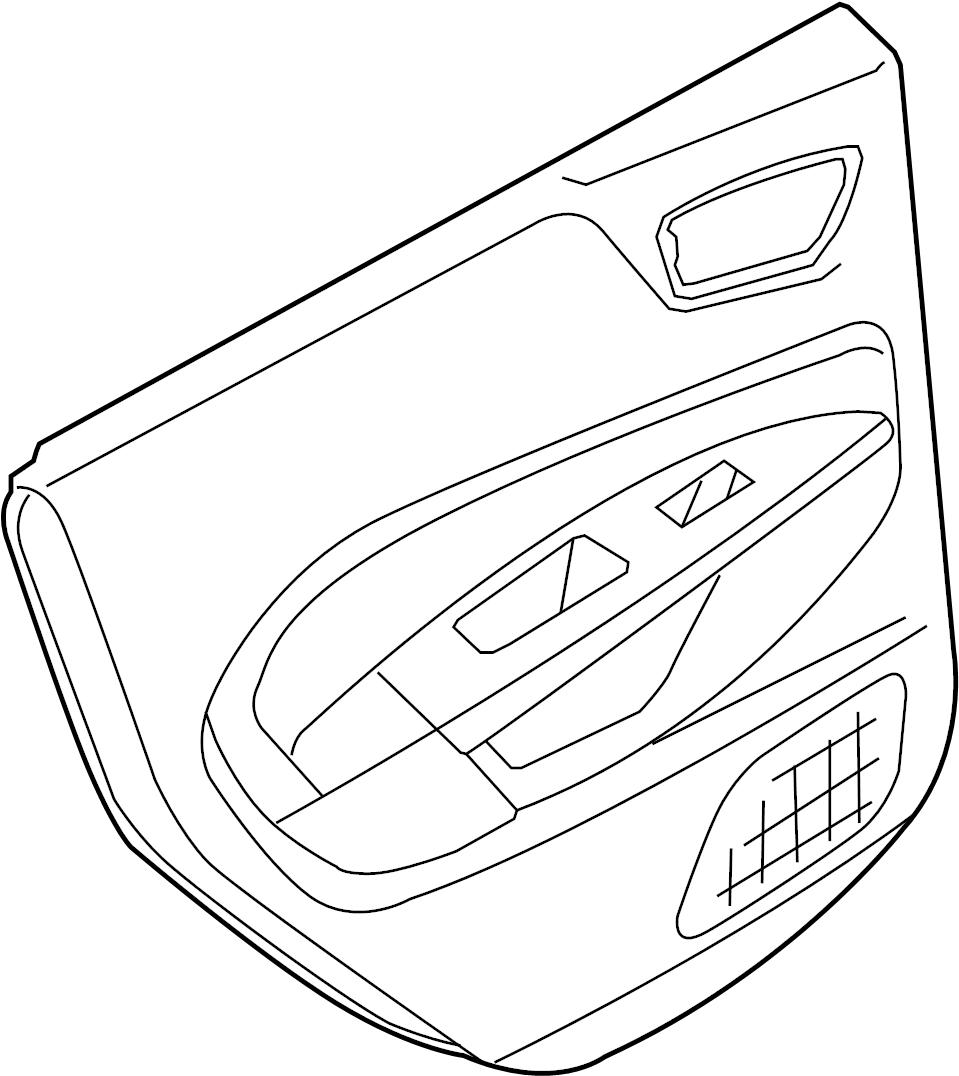 2014 Ford Fiesta Door Interior Trim Panel (Rear). Power
