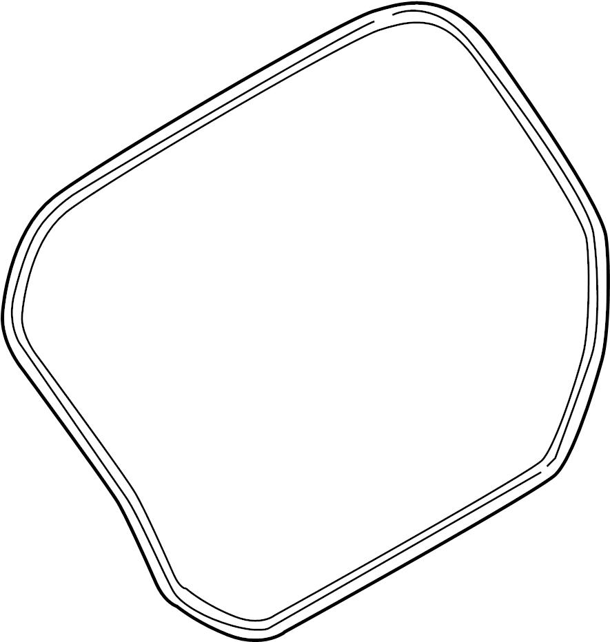 Ford Fiesta Hatch Seal (Upper). Body, Weatherstrip