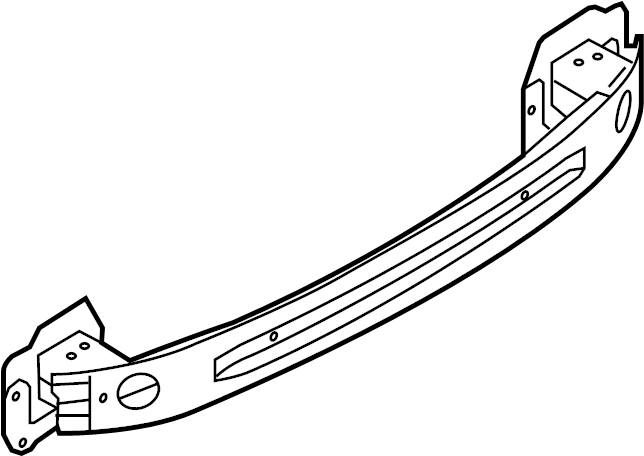 2015 Ford Fiesta Bumper Impact Bar (Rear). HATCHBACK