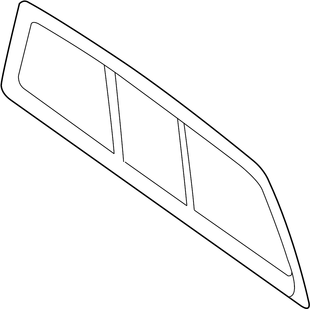 Ford F-150 Glass. (Rear). WINDOW, SLIDING, POWER