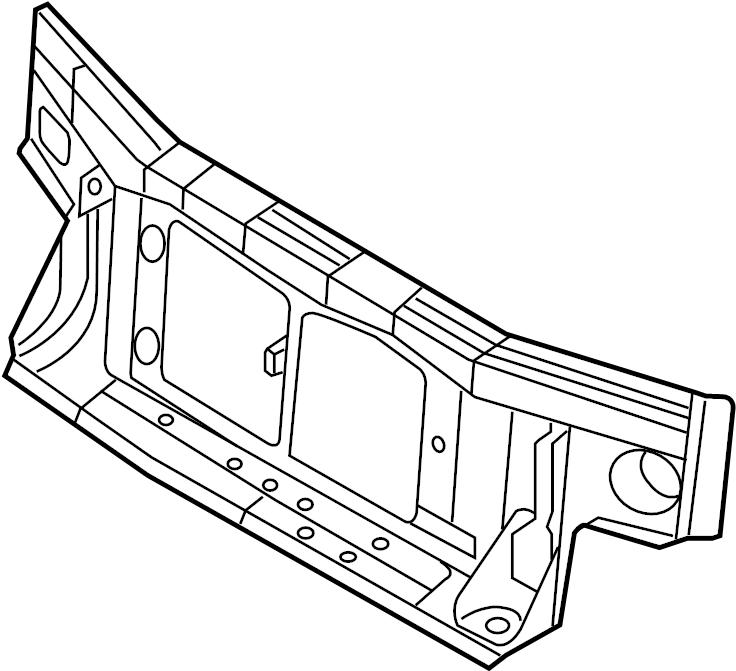 2008 Ford Explorer Radiator Support Panel (Front, Upper