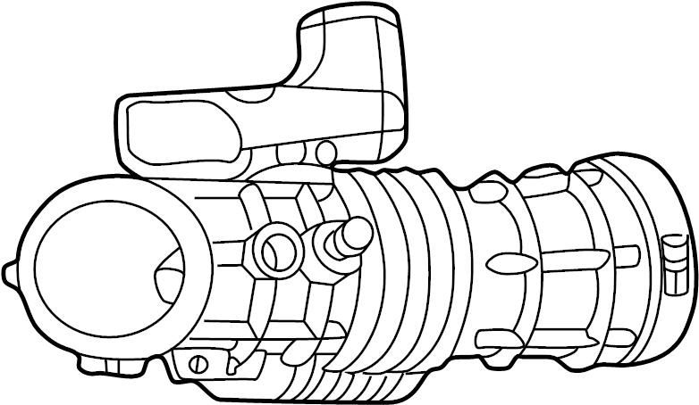 Ford Explorer Engine Air Intake Hose. 4.0 LITER, 2002-05