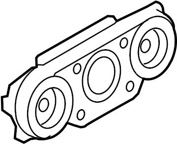2007 Ford Explorer Hvac temperature control panel. Zone