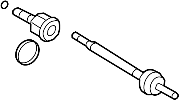 Ford Explorer Cv axle assembly (rear). Left, shaft, make