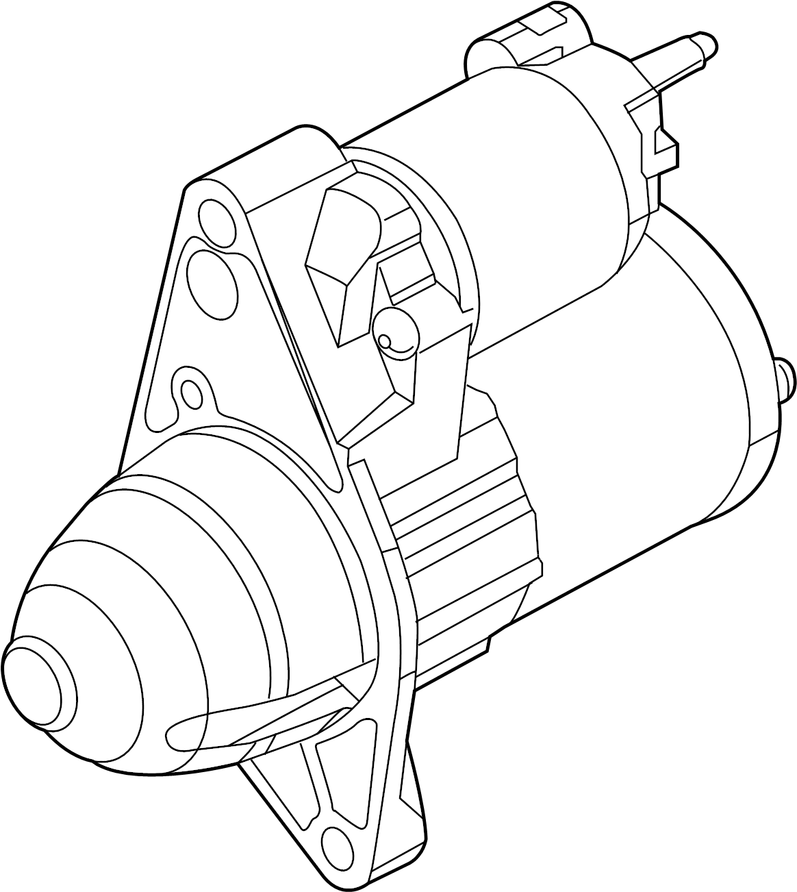 Ford F-150 Starter Motor. Trans, Manual, Vans