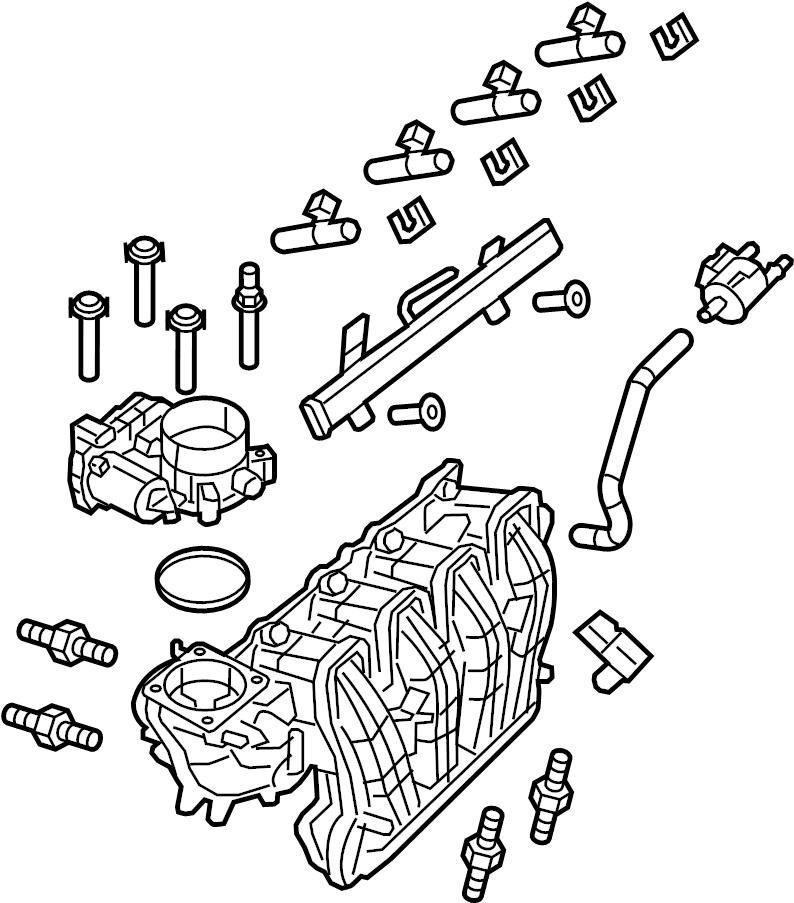 Ford F-150 Engine Intake Manifold. LITER, Upper
