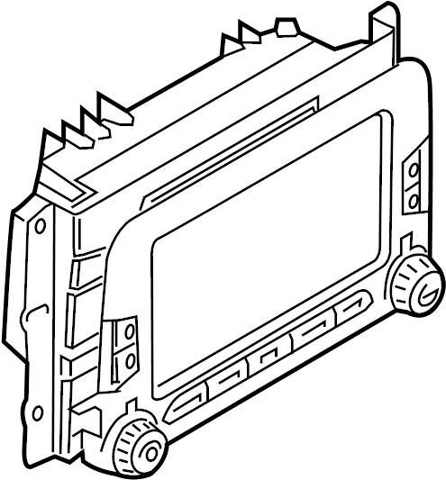 Ford Escort Radio Control Unit. Defrost, Rear, Stereo