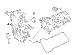 Ford F-150 Engine Timing Cover Gasket. Engine Timing Cover