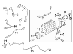 Ford F-150 Purge control valve. Purge valve. Valve