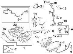 2016 Ford Explorer Filler. Bezel. Pipe. Insert. Fuel Neck