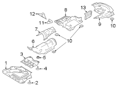 Ford Escape Screw. Shield. LUXURIOUS, WMESH, WSHUTTER
