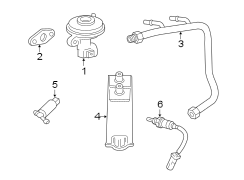 2006 Ford Freestar Front oxygen sensor. Rear (rr) oxygen