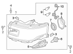 2014 Ford Flex Composite assembly. Headlamp assembly