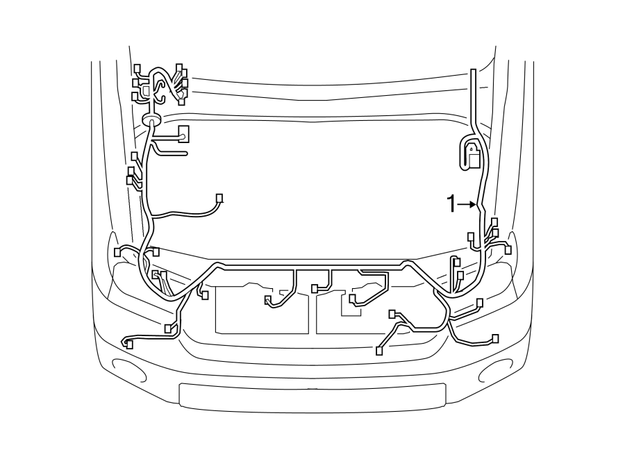 TOYOTA TUNDRA Engine Wiring Harness. 5.7L, w/SR5 package
