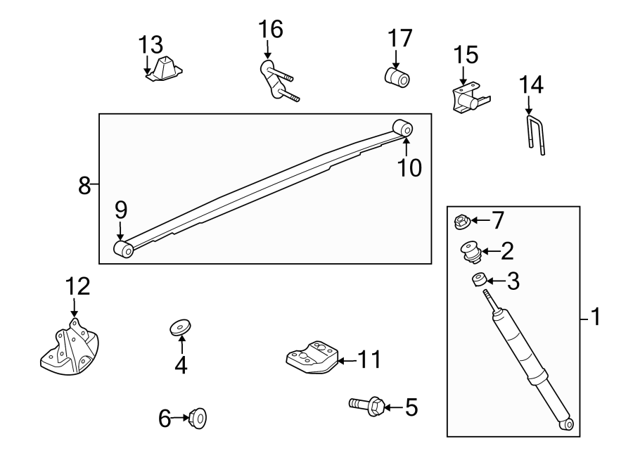 TOYOTA TUNDRA Spring. (Rear). Coil Retainer. Leaf Plate
