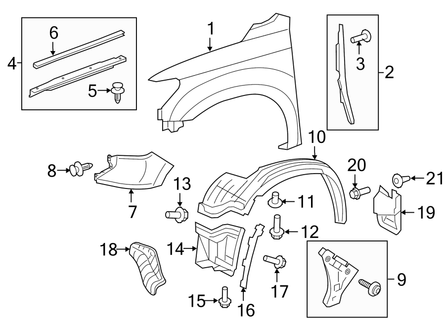 TOYOTA TUNDRA Fender Extension Panel (Right, Front, Lower