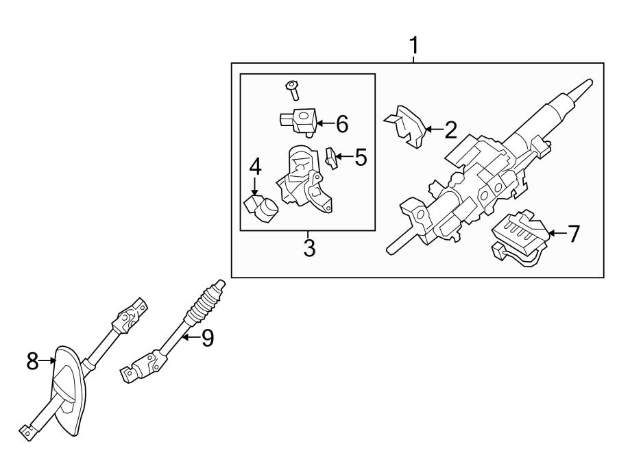 TOYOTA TUNDRA Shaft sub-assy, steering intermediate, no.2