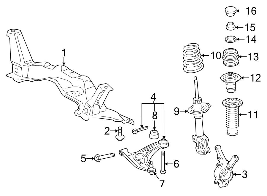 TOYOTA YARIS Suspension Subframe Crossmember (Front