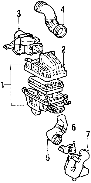 1988 TOYOTA COROLLA FX Q 1600CC DOHC EFI, MANUAL Air duct