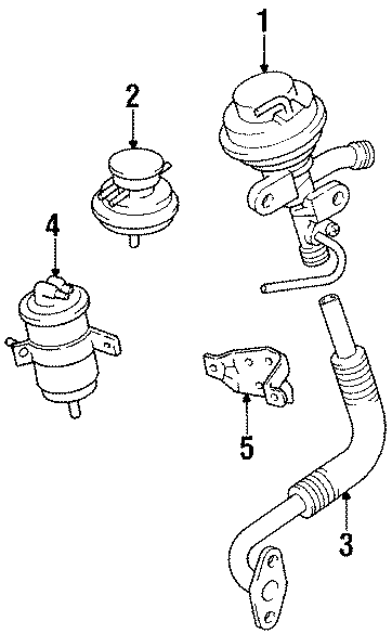 TOYOTA TACOMA Egr valve control solenoid (right