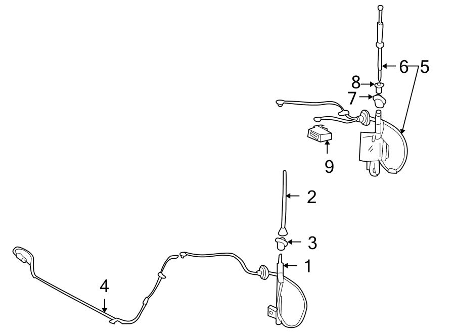 TOYOTA MR2 SPYDER Radio Antenna Mast. ReplacebbrGot