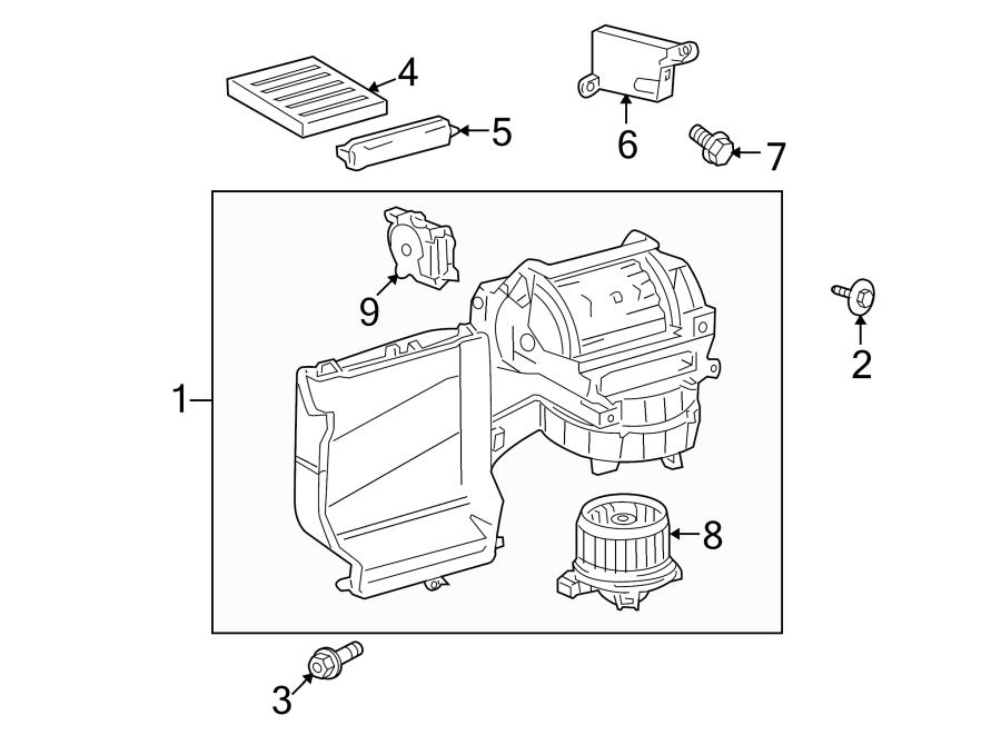 TOYOTA SEQUOIA Motor. Blower. Fan. HVAC. InclImpeller