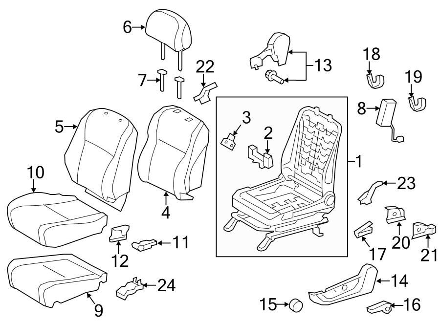 TOYOTA HIGHLANDER Seat Frame Trim Panel (Front, Lower