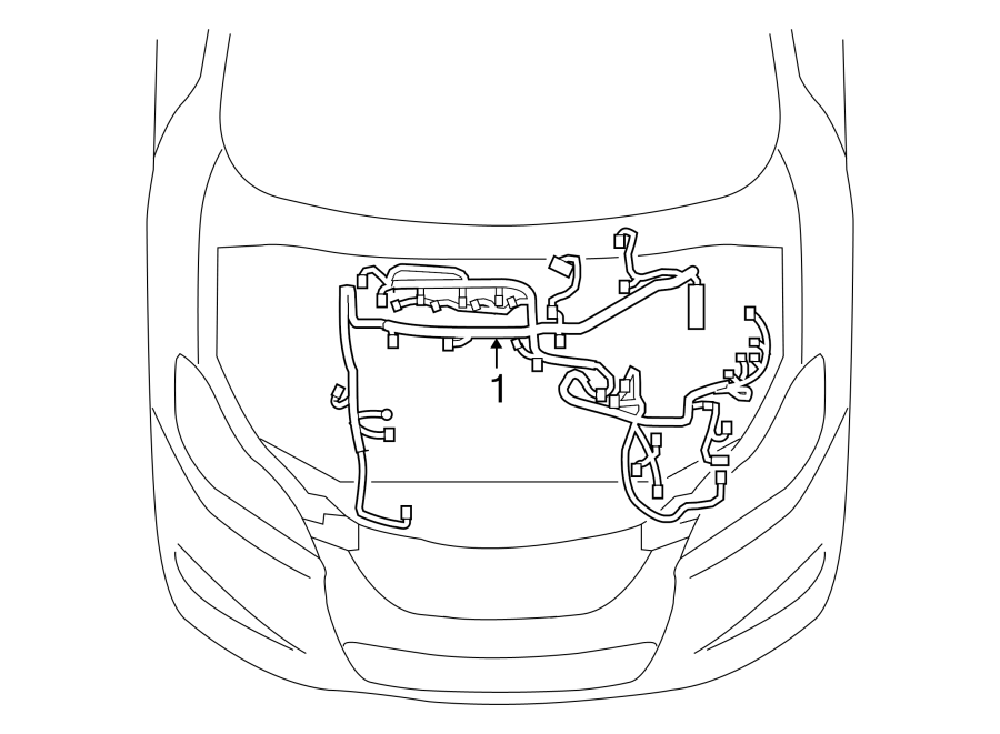 TOYOTA MATRIX Battery Cable Harness. Engine Wiring Harness