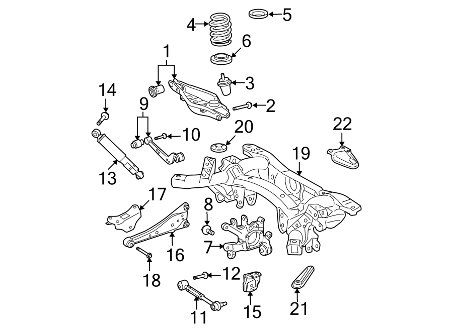 TOYOTA RAV 4 Arm assy, rear suspension, no.1 lh; arm assy