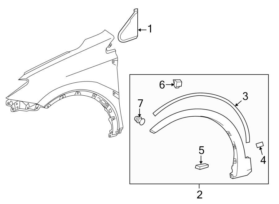 TOYOTA RAV 4 Deflector shield fastener. Engine cover clip