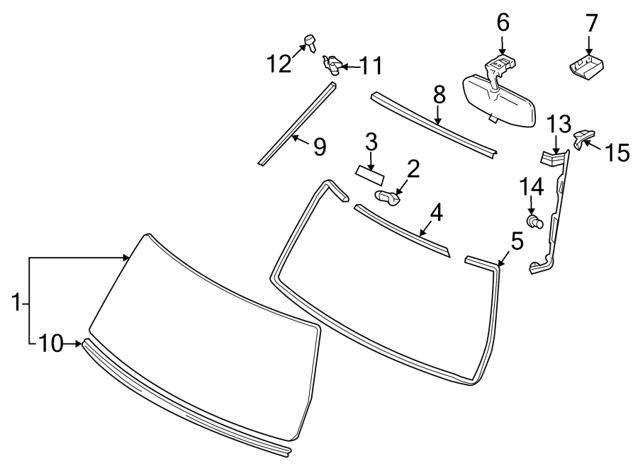 TOYOTA FJ CRUISER Windshield Molding (Upper). MOLDINGS