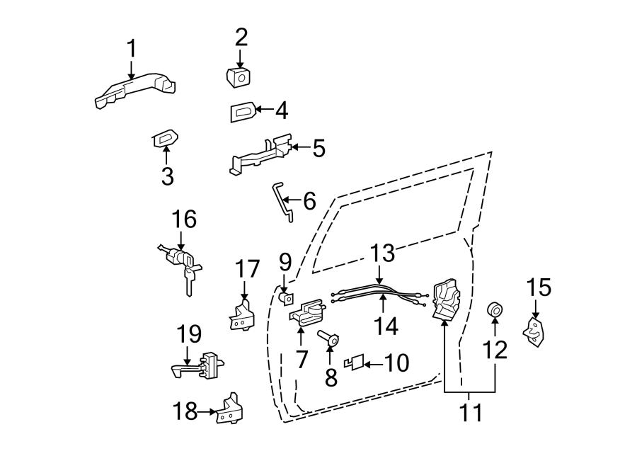 TOYOTA FJ CRUISER Door Lock Operating Rod. Hatch Lift