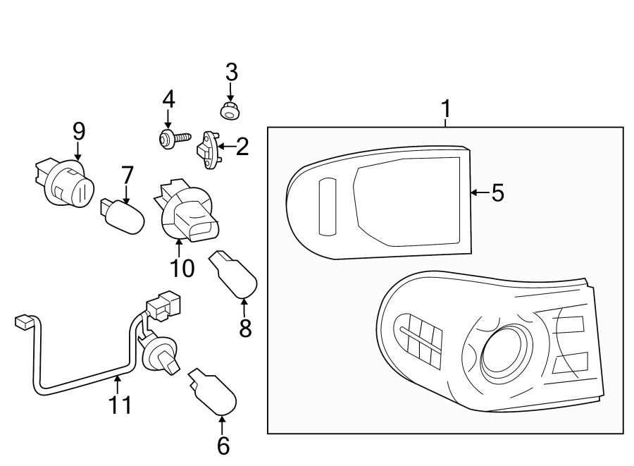 TOYOTA FJ CRUISER Socket. Bulb. (Lower). Combo