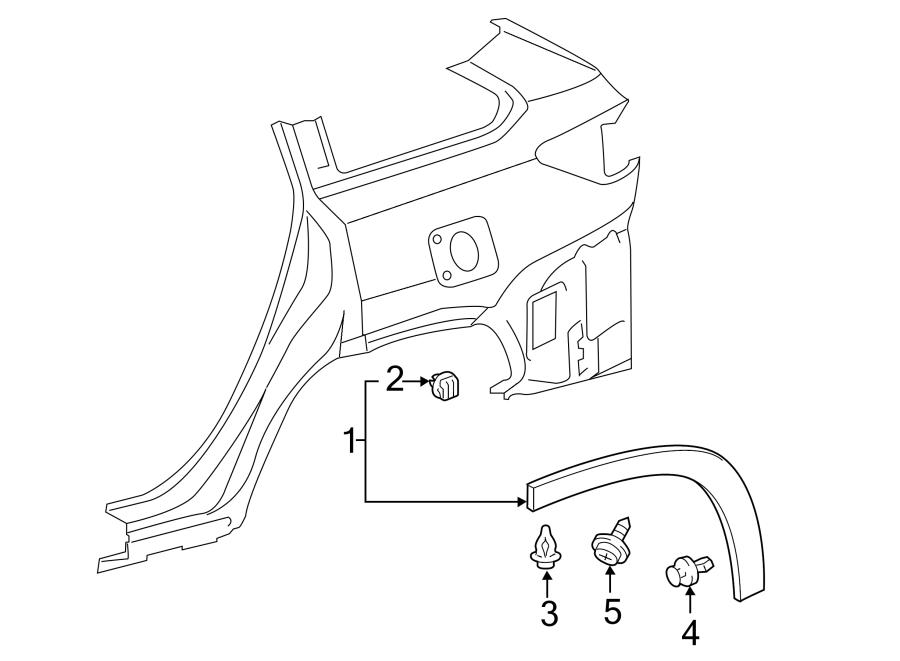 2015 TOYOTA HIGHLANDER Wheel Arch Molding. Wheel opng mldg