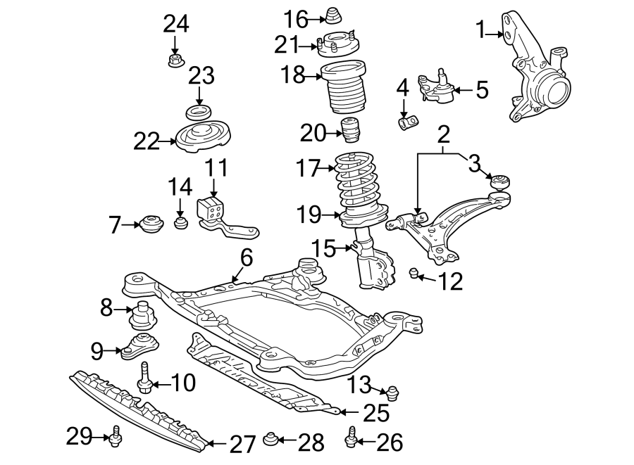1998 TOYOTA CAMRY Suspension Strut Mount (Front
