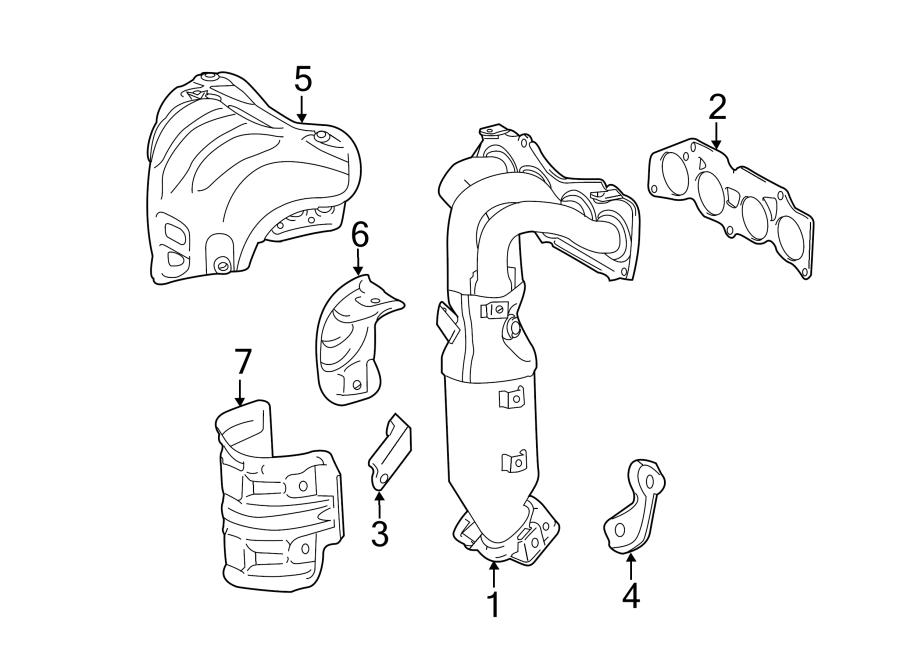TOYOTA CAMRY Shield. Heat. Insulator. Exhaust. (Upper