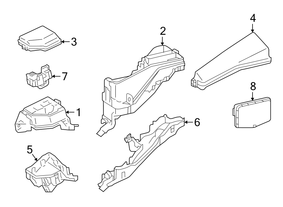 TOYOTA CAMRY Block assembly, engine r. Block, junction