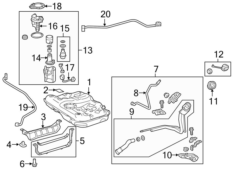 2015 TOYOTA Prius C Fuel Filler Neck. Federal emission
