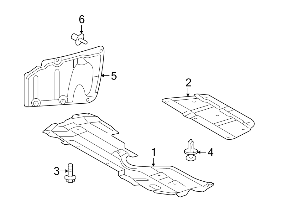Scion XB Clip; clip (for air rear duct); clip(for front