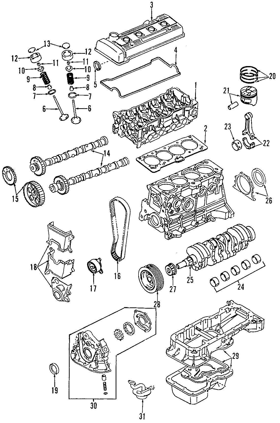 1994 TOYOTA COROLLA Engine Timing Crankshaft Sprocket