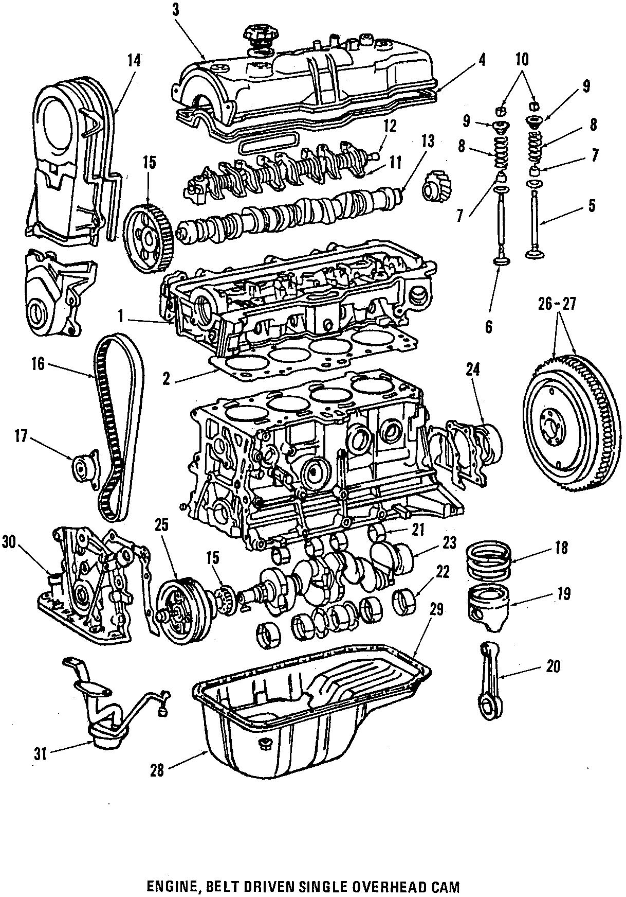 Toyota Corolla Fx D Base Cc Manual Engine