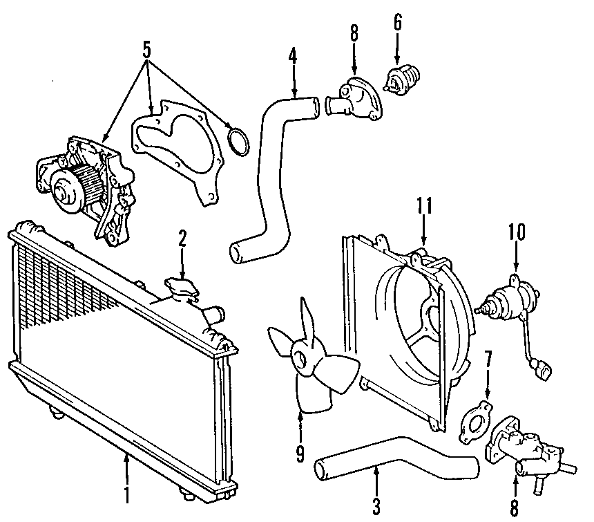 1996 TOYOTA CAMRY Engine Coolant Outlet Gasket