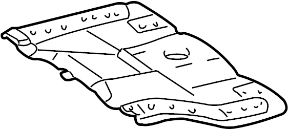 1997 TOYOTA 4RUNNER Radiator Support Splash Shield (Rear