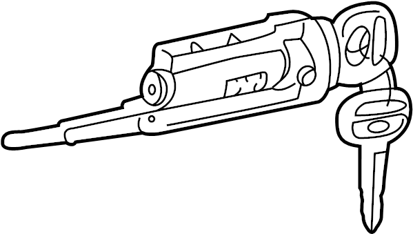 1999 TOYOTA TACOMA Cylinder & key set, ignition switch