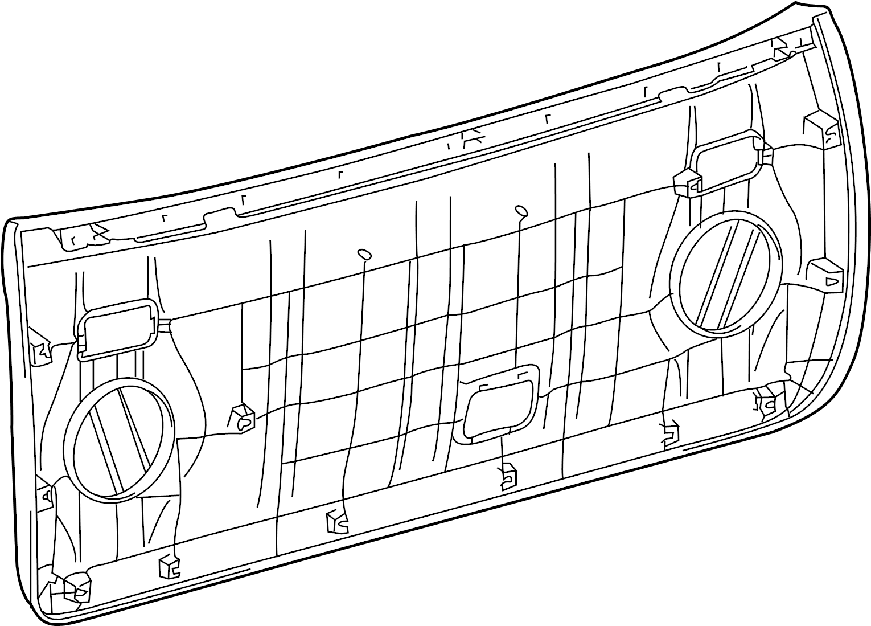 Toyota 4runner Gate Trim Panel Liftgate Trim Cover