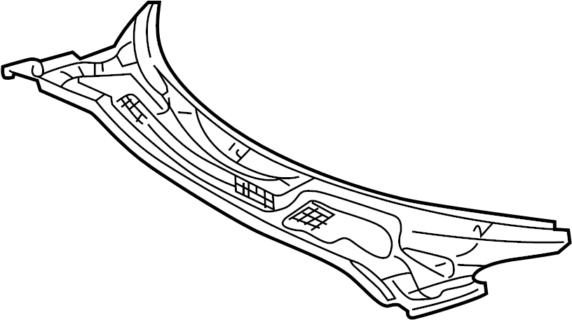 TOYOTA MR2 SPYDER Louver sub-assy, cowl top ventilator