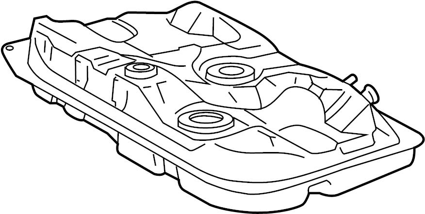 1999 TOYOTA COROLLA Tank assy, fuel. Tank sub-assy, fuel