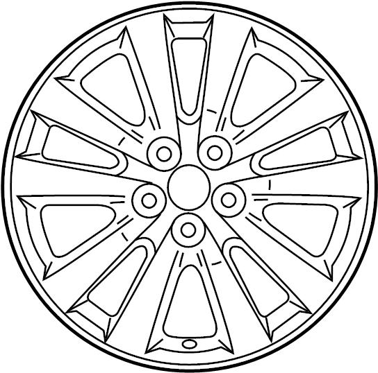 TOYOTA COROLLA Wheel, disc. Erefer, alumi, alloy