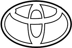 2013 TOYOTA CAMRY Emblem, back door, no.1. Emblem, luggage