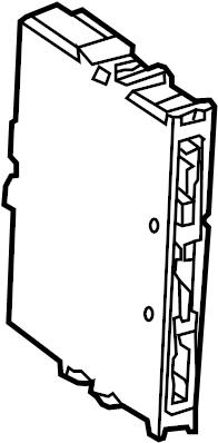 TOYOTA HIGHLANDER Computer. CONTROL MODULE. Keyless Entry